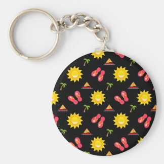 Sailboat Sun Sandals Vacation Key Ring