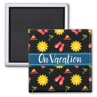 Sailboat Sun Sandals Vacation Magnet