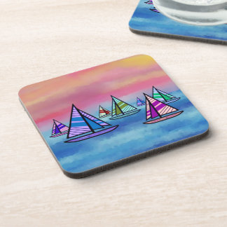 Sailboat Sunrise Coaster Set