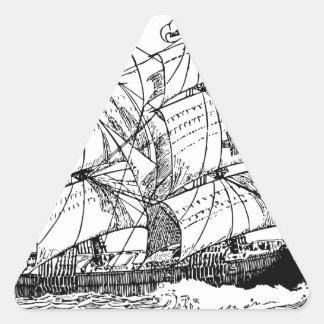 Sailboat Triangle Sticker