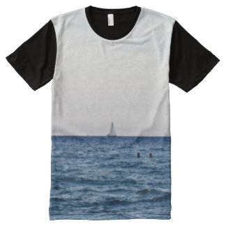 Sailboat View Of The Ocean All-Over Print T-Shirt