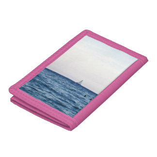 Sailboat View Of The Ocean Tri-fold Wallet