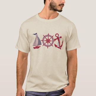 Sailboat, Wheel, Anchor T-Shirt