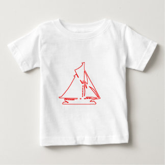 Sailboat White-Red transp Vero Beach The MUSEUM Za Infant T-Shirt