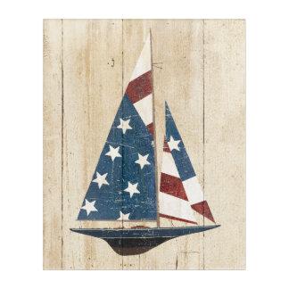 Sailboat With American Flag Acrylic Print