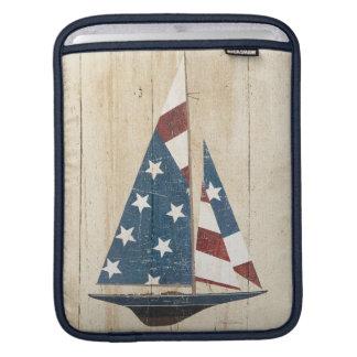 Sailboat With American Flag iPad Sleeve