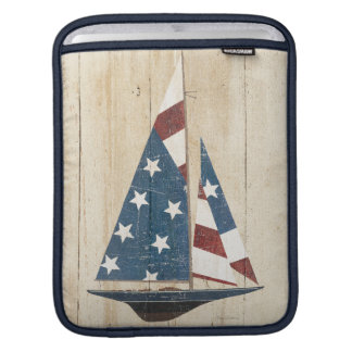 Sailboat With American Flag Sleeve For iPads
