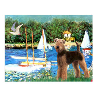 Sailboats - Airedale Terrier (#6) Postcard