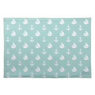 Sailboats and Anchors Pattern Placemat