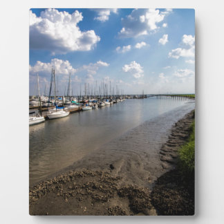 Sailboats and Mussel Beds Jekyl Island Georgia Photo Plaque