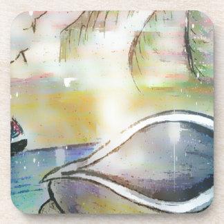 Sailboats and Seashells Coaster
