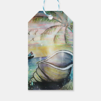 Sailboats and Seashells Gift Tags