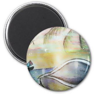 Sailboats and Seashells Magnet