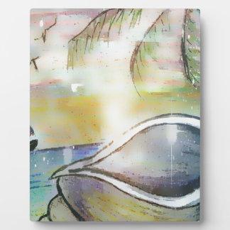 Sailboats and Seashells Plaque