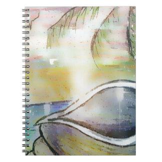 Sailboats and Seashells Spiral Notebook