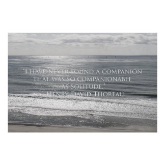 Sailboats and Thoreau quote Poster
