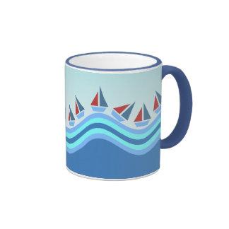 Sailboats and Waves Mug