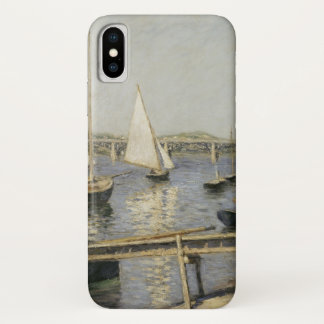Sailboats at Argenteuil by Gustave Caillebotte iPhone X Case