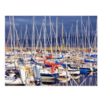 Sailboats at rest postcard