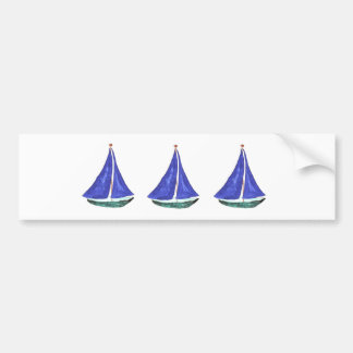 Sailboats Bumper Sticker