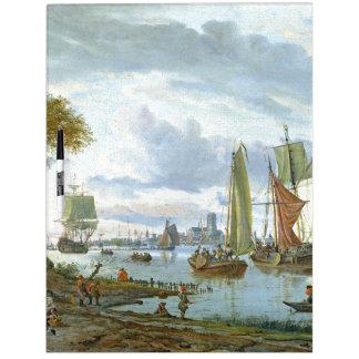 Sailboats Clipper Ships River Dry Erase Board