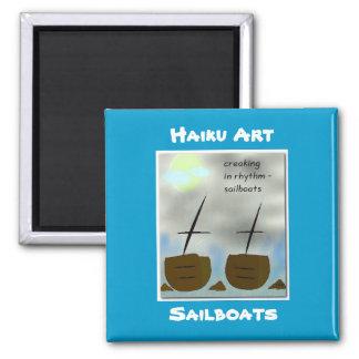 Sailboats Haiku Art Magnet