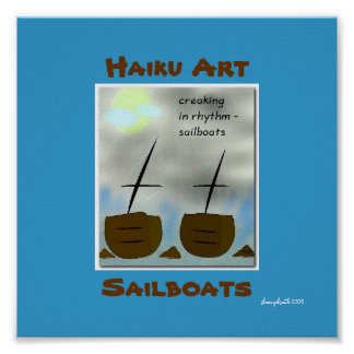 Sailboats Haiku Art Print