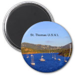 Sailboats in St. Thomas Harbour Refrigerator Magnet