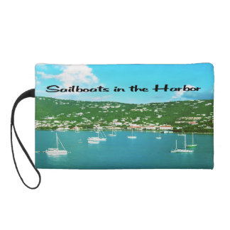 Sailboats in the Harbor Wristlet Purse