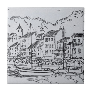 Sailboats in the Harbor | Cassis, France Ceramic Tile