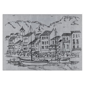 Sailboats in the Harbor | Cassis, France Cutting Board