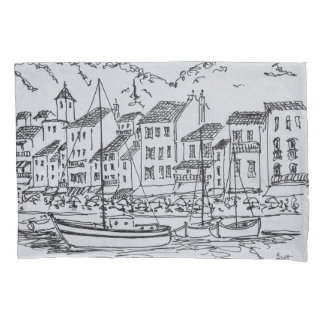 Sailboats in the Harbor   Cassis, France Pillowcase