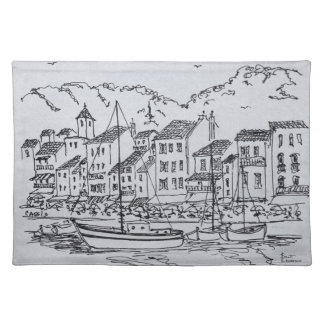 Sailboats in the Harbor | Cassis, France Placemat