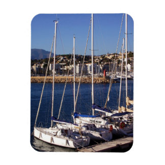 Sailboats in the port of Altea Magnet