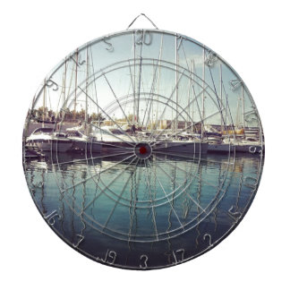 Sailboats in Water Dartboards