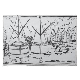 Sailboats | La Vilaine River, Redon, Brittany Placemat