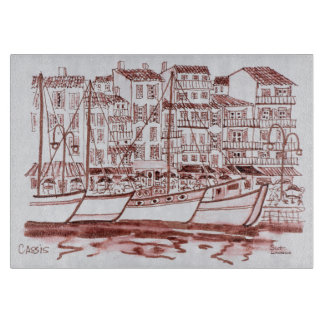Sailboats Moored in the Harbor | Cassis, France Cutting Board