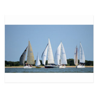 Sailboats on 4th of July Postcard