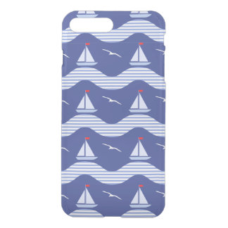 Sailboats On A Striped Sea Pattern iPhone 7 Plus Case