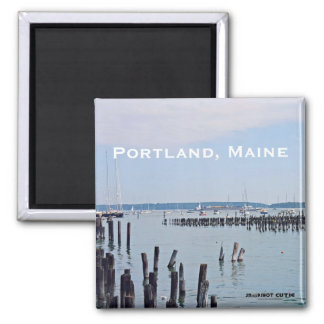 Sailboats On The Coast of Old Port, Portland Maine Magnet