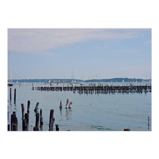 Sailboats On The Coast of Old Port, Portland Maine Poster