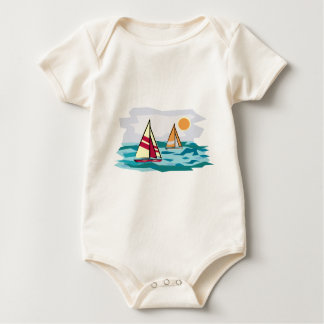 Sailboats on the Sea Baby Bodysuit