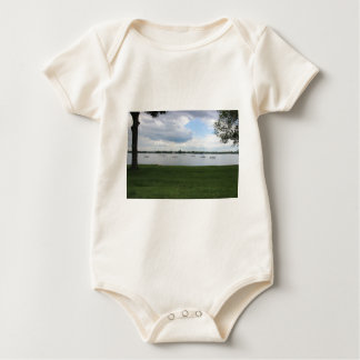 Sailboats on the Water Baby Bodysuit