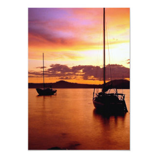 Sailboats on Waldo Lake, Willamette National Fores Card