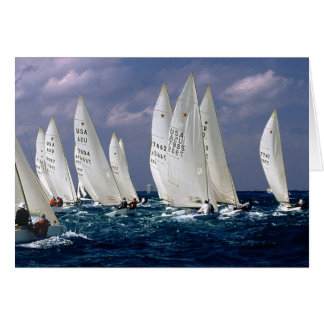 Sailboats - Racing sailboats - Star Class Card