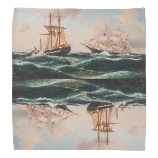 Sailboats Sailing Ships Ocean Sea Bandana