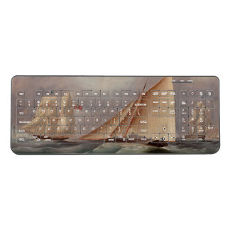 Sailboats Yachts Ocean Sailing Wireless Keyboard