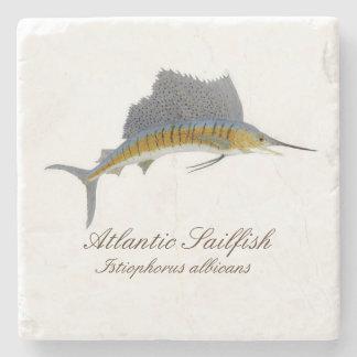 sailfish coaster stone beverage coaster