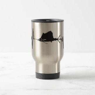 Sailfish - Heartbeat Pulse Travel Mug