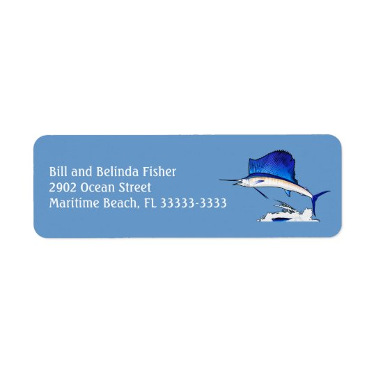 Sailfish Return Address Label